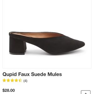 Shoes - Faux suede mules